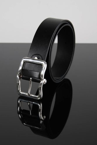 Handmade belt leather belt for men unusual gift handmade accessory for men - MADEheart.com