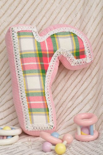 Handmade interior toy unusual stylish pillow cute toy letter for kids - MADEheart.com