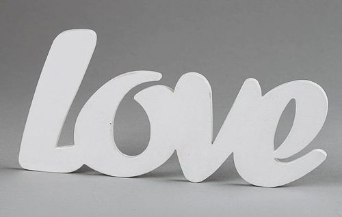 Chipboard word for scrapbooking Love - MADEheart.com