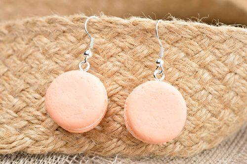 Handmade earrings designer accessory clay jewelry gift idea earrings with charms - MADEheart.com