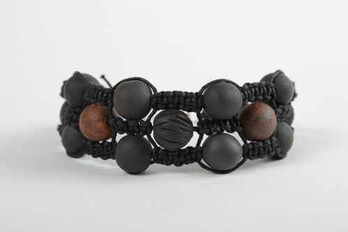 Women handmade woven cord bracelet wrist bracelet with beads fashion accessories - MADEheart.com