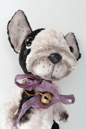Soft toy French bulldog Jerryk - MADEheart.com